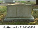 blank headstone template in a... | Shutterstock . vector #1194661888