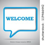 modern design speech bubbles... | Shutterstock .eps vector #119466442