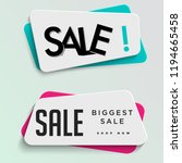 set of sale tag banner trendy... | Shutterstock .eps vector #1194665458