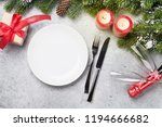 christmas table setting with... | Shutterstock . vector #1194666682