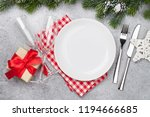 christmas table setting with... | Shutterstock . vector #1194666685