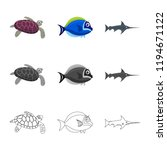 vector illustration of sea and... | Shutterstock .eps vector #1194671122
