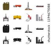 vector illustration of oil and... | Shutterstock .eps vector #1194675088