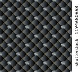 leather quilted black 3d vector ...   Shutterstock .eps vector #1194680668