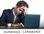 young sad and depressed...   Shutterstock . vector #1194681925
