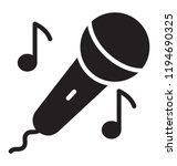 singing icon having mic and... | Shutterstock .eps vector #1194690325