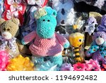 crocheted hippo and bear from...   Shutterstock . vector #1194692482