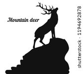 Silhouette Of A Deer On The Top ...