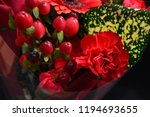 red flowers bouquet | Shutterstock . vector #1194693655