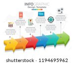 infographic design vector and ... | Shutterstock .eps vector #1194695962