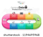 infographic design vector and ... | Shutterstock .eps vector #1194695968