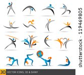 fitness elements and logos | Shutterstock .eps vector #119469805