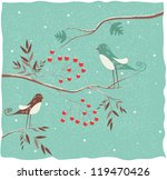 Two Birds On The Branch. Winte...