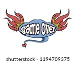 game over  retro logo design... | Shutterstock .eps vector #1194709375