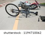 accident motorcycle crash with... | Shutterstock . vector #1194710062