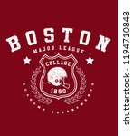 boston .college baseball league.... | Shutterstock .eps vector #1194710848