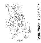 shailaputri is an avatar of... | Shutterstock .eps vector #1194716215