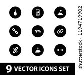 strength icon. collection of 9... | Shutterstock .eps vector #1194719902