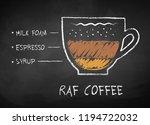 vector chalk drawn sketch of... | Shutterstock .eps vector #1194722032