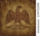 logo of the roman eagle on an... | Shutterstock .eps vector #1194722398