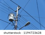 electrical network installation - stock photo