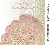 elegant wedding classic silver... | Shutterstock .eps vector #1194723772