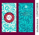 set of cards with swirls... | Shutterstock .eps vector #1194723808