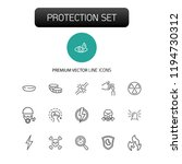 protection icons. set of  line... | Shutterstock .eps vector #1194730312