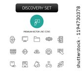 discovery icons. set of line... | Shutterstock .eps vector #1194730378