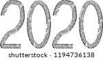 tire tracks . new year 2020.... | Shutterstock .eps vector #1194736138