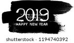 new year 2019. distress design .... | Shutterstock .eps vector #1194740392
