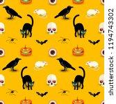 horror halloween orange... | Shutterstock .eps vector #1194743302