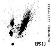 black drops of paint and stains ... | Shutterstock .eps vector #1194744655