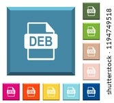 deb file format white icons on... | Shutterstock .eps vector #1194749518