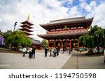 sensoji temple or asakusa... | Shutterstock . vector #1194750598
