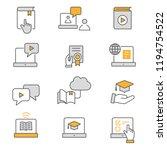 e learning distance education... | Shutterstock .eps vector #1194754522