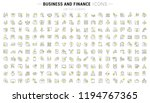 set of vector line icons and... | Shutterstock .eps vector #1194767365