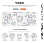 linear banner of phishing.... | Shutterstock .eps vector #1194767398