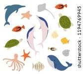 sea undersea life | Shutterstock .eps vector #1194769945
