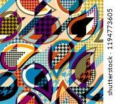 seamless geometric pattern.... | Shutterstock .eps vector #1194773605