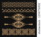 ethnic vector pattern  seamless ... | Shutterstock .eps vector #1194776932