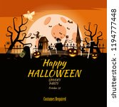 poster happy halloween holiday... | Shutterstock .eps vector #1194777448