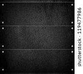 black metal background | Shutterstock . vector #119477986