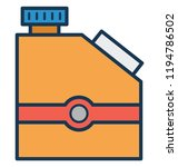 diesel can  gallon isolated... | Shutterstock .eps vector #1194786502