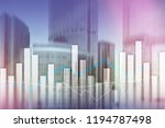 financial graphs and charts on... | Shutterstock . vector #1194787498