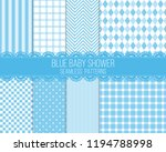 blue baby shower seamless... | Shutterstock .eps vector #1194788998