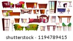 home furniture of bedroom and... | Shutterstock .eps vector #1194789415