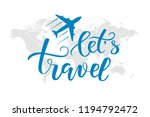 black brush calligraphy travel... | Shutterstock .eps vector #1194792472