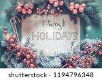 christmas garland  calligraphy... | Shutterstock . vector #1194796348