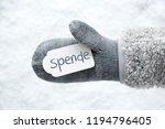 wool glove  label  snow  spende ... | Shutterstock . vector #1194796405
